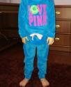 """Детский велюровый костюм """"Love Pink"""" голубой"""