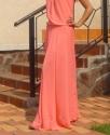 Шифоновое платье в пол Розовое