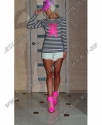 Тельняшка женская Тедди Розовый/чёрная полоска