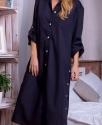 Хлопковое платье-рубашка / Черное