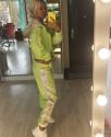 Спортивный костюм из плюшевого велюра с пайетками Салатовый