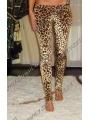 Велюровые Леггинсы Леопардовые лосины бархатные