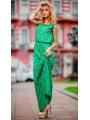 Платье в пол с перфорацией Зелёное