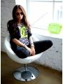 Тельняшка Шанель Салатовый Chanel голубая полоска