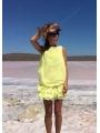 Шифоновое летнее платье / Желтое