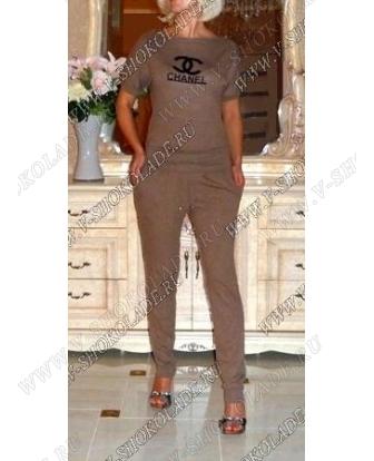 """Спортивный костюм женский Трикотажный """"Chanel"""" Горчичный"""