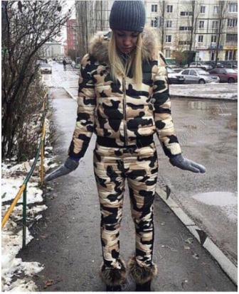 """Осенний костюм женский """"Милитари"""" Камуфляжный хаки купить в интернет магазине"""